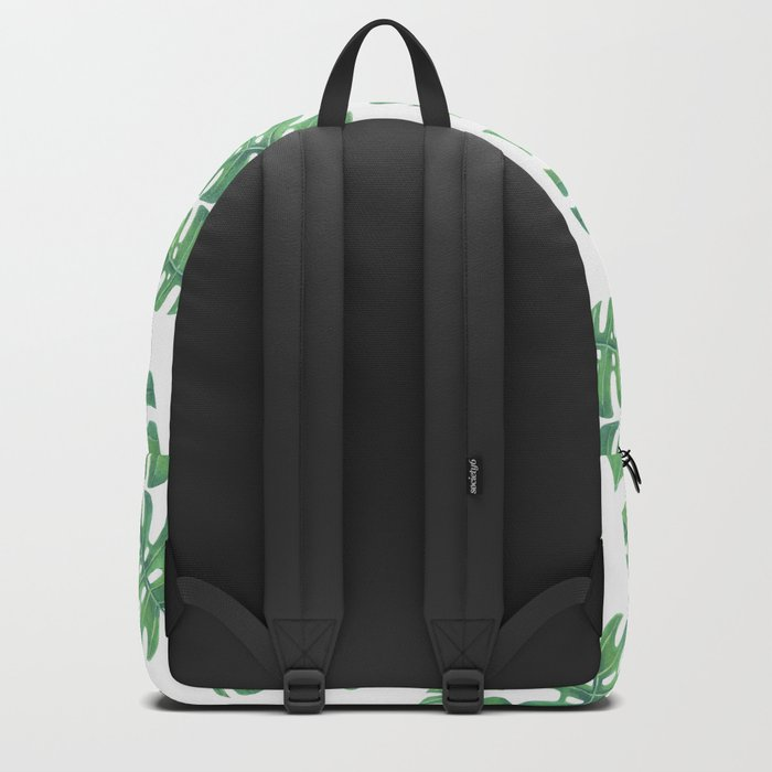 Tropical pattern with monstera leaves Backpack