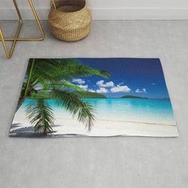 Classic Tropical Island Beach Paradise Rug
