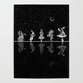 Wonderland Starry Night - Alice In Wonderland Poster