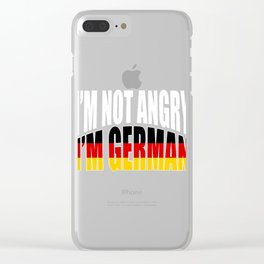 "A German Tee For Germans Saying""I'm Not Angry I'm German"" T-shirt Design Germany Flag Mad Annoyed Clear iPhone Case"
