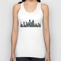 karu kara Tank Tops featuring Graffiti City by Klara Acel