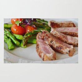 passion for food and eating - fillet of meat Rug
