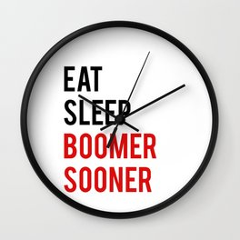 "Funny wall art ""Eat Sleep Boomer Sooner"" Study Poster Teen Room Decor Printable Quote Funny Poster P Wall Clock"