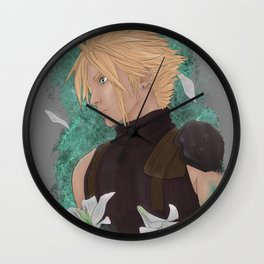 Cloud Strife, May, Lilies Wall Clock