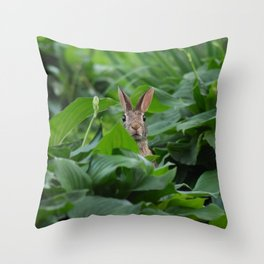 Garden Bunny Throw Pillow