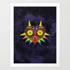 Majora's Mask Splatter Art Print