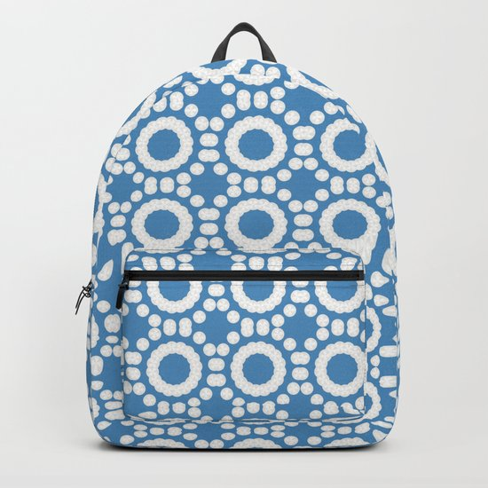 Round and Round Blue Backpack