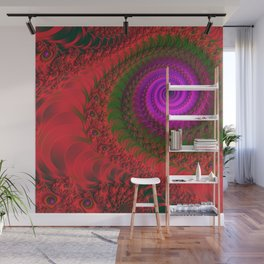 burning red -1- Wall Mural
