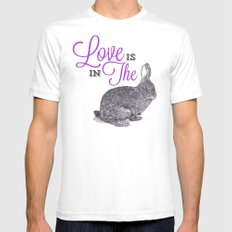 Love is in the hare. SMALL Mens Fitted Tee White