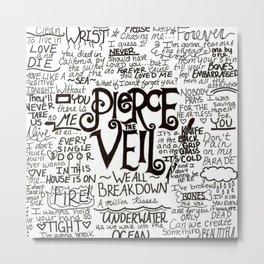 Pierce The Veil Music Band Group Fabric Art Cloth Poster Metal Print