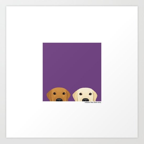 Tan Lab & Yellow Lab Art Print
