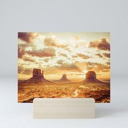 Monument Valley Sunrise Mini Art Print