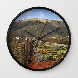 Big Sur Mountains Wall Clock