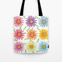 Colorist 3d daisy flower Tote Bag