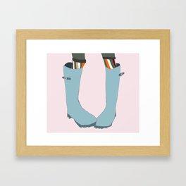 Autumn Wellies Framed Art Print