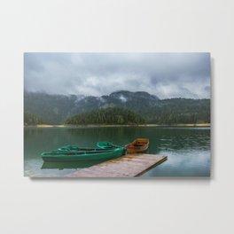 Black Lake Metal Print