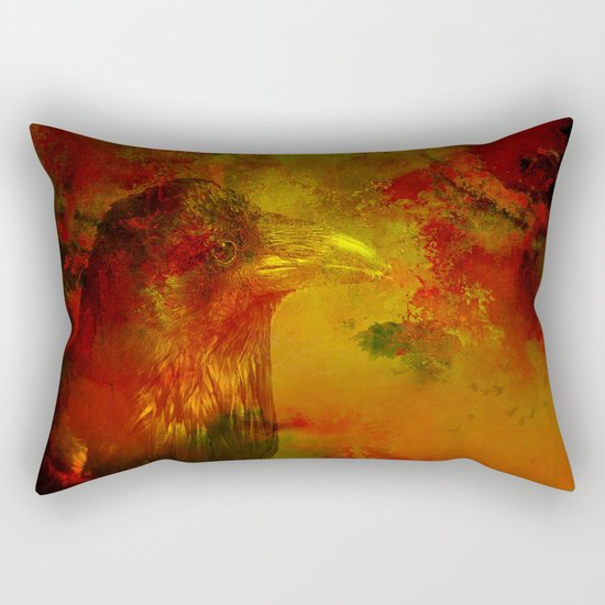Melancholic crow Rectangular Pillow