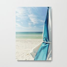 Beach Umbrella Metal Print