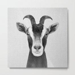 Goat - Black & White Metal Print