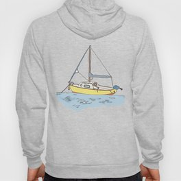 Boat in the Harbour  Hoody