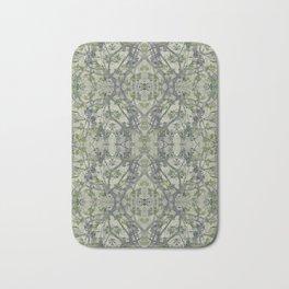 Modern Noveau Floral Pattern Bath Mat