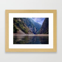 Manas River - Bhutan Framed Art Print