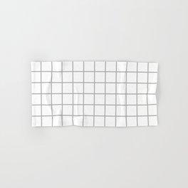 Minimalist Window Pane Grid, Gray on White Hand & Bath Towel
