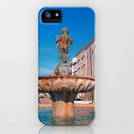 Naked boy bum on the water iPhone Case