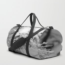 Touch of Winter - Black & White Duffle Bag