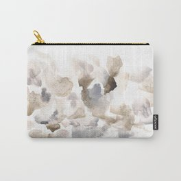 180630 Grey Abstract Watercolour Black Brown 12 | Watercolor Brush Strokes Carry-All Pouch