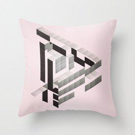 J'aime triangle Throw Pillow