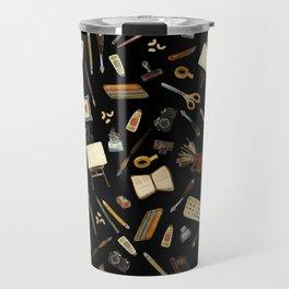 Creative Artist Tools - Watercolor on Black Travel Mug