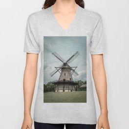 Fabyan Windmill Historic Dutch Holland Style Geneva Illinois Unisex V-Neck