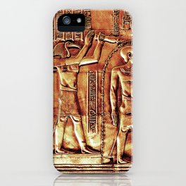 Egyptian Thoth Horus Hieroglyph Pyramid iPhone Case