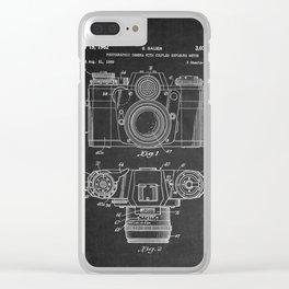 Chalkboard Camera Patent Clear iPhone Case