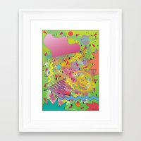fresh prince Framed Art Prints featuring Fresh Prince by TheArtGoon