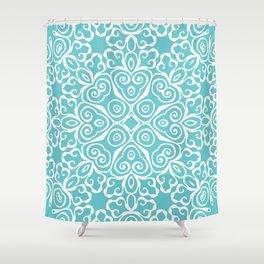 Winter's Spring Dance Print Shower Curtain