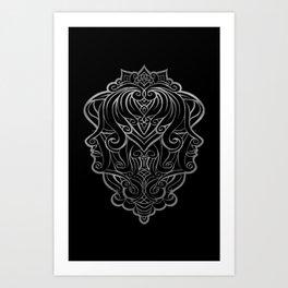 Gemini Silver Art Print