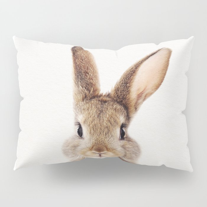 Baby Rabbit, Baby Animals Art Print By Synplus Pillow Sham