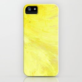 Abstract Yellow Sun by Robert S. Lee iPhone Case