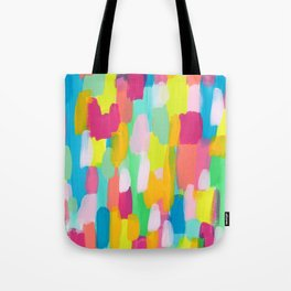 Meet Me In The Rainbow Woods - colorful abstract painting pattern Tote Bag