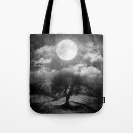 Black and white - Once upon a time... The lone tree. Tote Bag