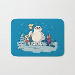 Let's Build a Snowman! Bath Mat
