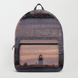 Ten pound Island Lighthouse sunset Backpack