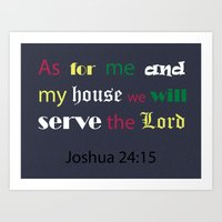 verse Art Prints featuring Bible verse by cmphotography