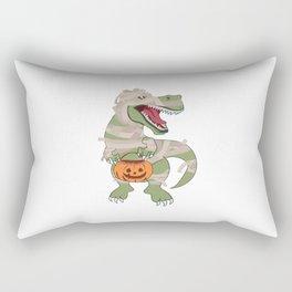 Halloween T-Rex Dinosaur Dino Pumpkin Mummy Rectangular Pillow