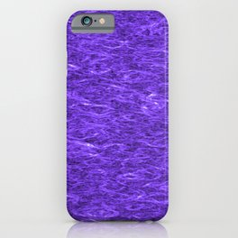 Horizontal metal texture of bright highlights on blue waves. iPhone Case