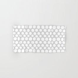 White Dots on Light Gray Hand & Bath Towel