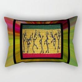 lively up reggae dancers (square) Rectangular Pillow