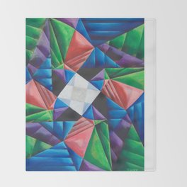 Square Pinwheel Throw Blanket